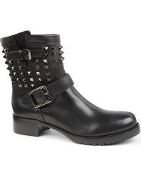 Valentino Rockstud So Noir Biker Boots - Black