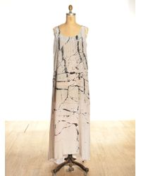 Zoe Jordan Marble Print Allonby Maxi Dress  - Natural