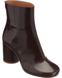 Maison Margiela Round Toe Ankle Boot - Lyst