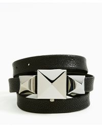 Nasty Gal - Cairo Leather Wrap Watch Black - Lyst