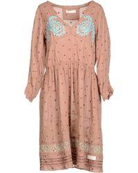 Odd Molly 34 Length Dress brown - Lyst