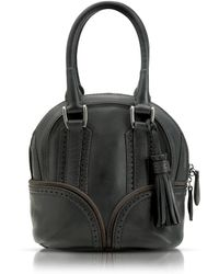 Pineider - 1774 Black Micro Bowling Leather Bag - Lyst