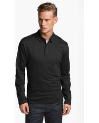 Victorinox Long Sleeve Zip Polo - Lyst