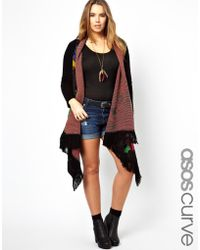 ASOS Blanket Cardigan in Floral - Black