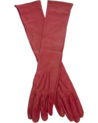 Jo No Fui - Long Leather Gloves - Lyst