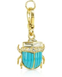Juicy Couture - Blue Scarab Charm - Lyst