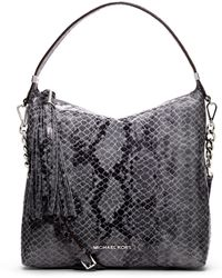 MICHAEL Michael Kors Medium Weston Snakeprint Shoulder Bag - Lyst