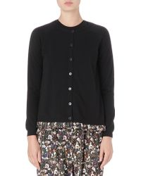 Mulberry Pleatedhem Cashmere Cardigan - Lyst