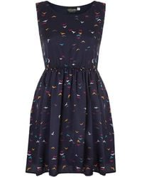 Sodamix - Elasticated Waist Bird Print Dress - Lyst