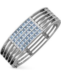 Zoppini - Dare To Love Stainless Steel and Spinel Stone Cuff Bracelet - Lyst
