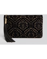 B Brian Atwood | Clutch Lana Brocade Medium Zip | Lyst