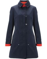 Kenneth Cole - Turn Up Contrast Detail Coat - Lyst
