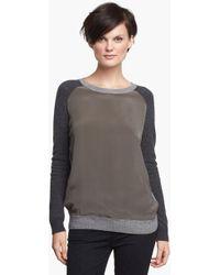 Vince Colorblock Raglan Sleeve Sweater - Lyst
