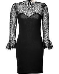 Emilio Pucci Wool/Lace Dress - Lyst