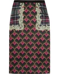 Emma Cook - Bargello Printed Satin Skirt - Lyst