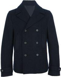 Ermenegildo Zegna Double Breasted Coat - Blue