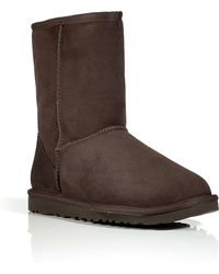 Ugg Suede Classic Short Boots in Chocolate - Lyst
