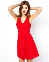 A Wear - Pleated Wrap Dress - Lyst