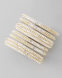 Chamak by Priya Kakkar - Set Of 6 Pearly Crystal Bangles - Lyst
