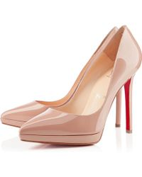 Christian Louboutin Pigalle Plato Patent - Lyst