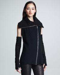 Donna Karan New York Reversible Zipfront Vest - Lyst