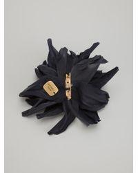 Erika Cavallini Semi Couture Chrysanthemum Flower Brooch - Black