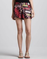 French Connection - Zigzagprint Relaxed Shorts - Lyst