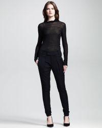 Helmut Lang Linear Drape Skinny Trousers - Lyst