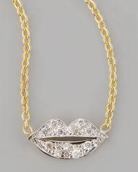 Kacey K - Mini Diamond-lip Pendant Necklace - Lyst