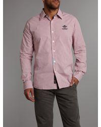 Nza - Print Mini Check Shirt - Lyst