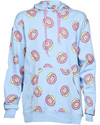 Odd Future All Over Pattern Hoodie - Blue