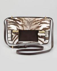 Reed Krakoff Academy Tiger print Calf Hair Crossbody Bag - Lyst