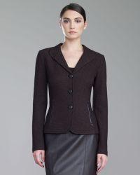St. John Collection Tile Knit Jacket - Lyst