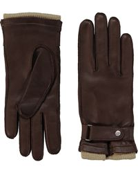 Tommy Hilfiger Driving Leather Gloves - Brown