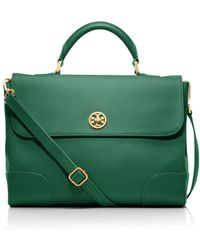 Tory Burch Robinson Top Handle Satchel - Green
