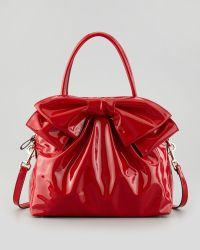 Valentino Lacca Dome Bow Bag Red - Lyst