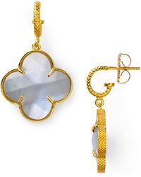Coralia Leets Mother Of Pearl Clover Earrings