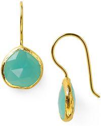 Coralia Leets - Peruvian Opal Mini French Wire Earrings - Lyst