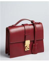 Giorgio Armani Black Cherry Top Handle Convertible Shoulder Bag - Lyst