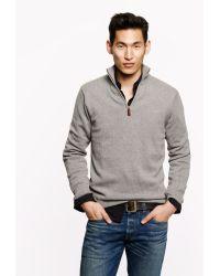 J.Crew Cotton-Cashmere Half-Zip Sweater - Lyst
