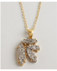 Marcia Moran - Gold Plated Druzy Leaf Cluster Necklace - Lyst