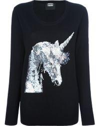 Markus Lupfer Sequinned Unicorn Sweater - Lyst