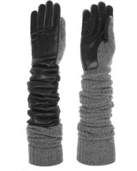 Rochas - Woolblend and Leather Gloves - Lyst