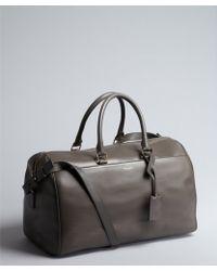 Saint Laurent Brown Leather Convertible Top Handle Satchel - Lyst