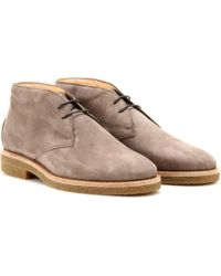 Tod's Suede Desert Boots - Lyst