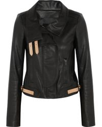 A.L.C. Shaw Textured Leather Jacket - Black