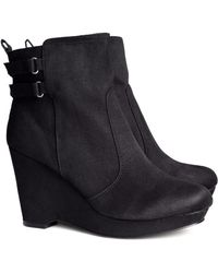H&M - Boots with A Wedge Heel - Lyst