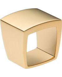 Michael Kors - Square Ring Golden - Lyst