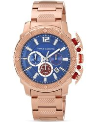 Vince Camuto - Mens Rose Gold Tone and Blue Watch 455mm - Lyst
