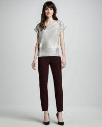 Theory Belisa Stretch Cottonnylon Ankle Pants - Lyst